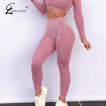 CHRLEISURE de moda sin femenina polainas Jeggings tramo Fitness ropa deportiva mujeres de cintura alta de ejercicio Leggings Mujer