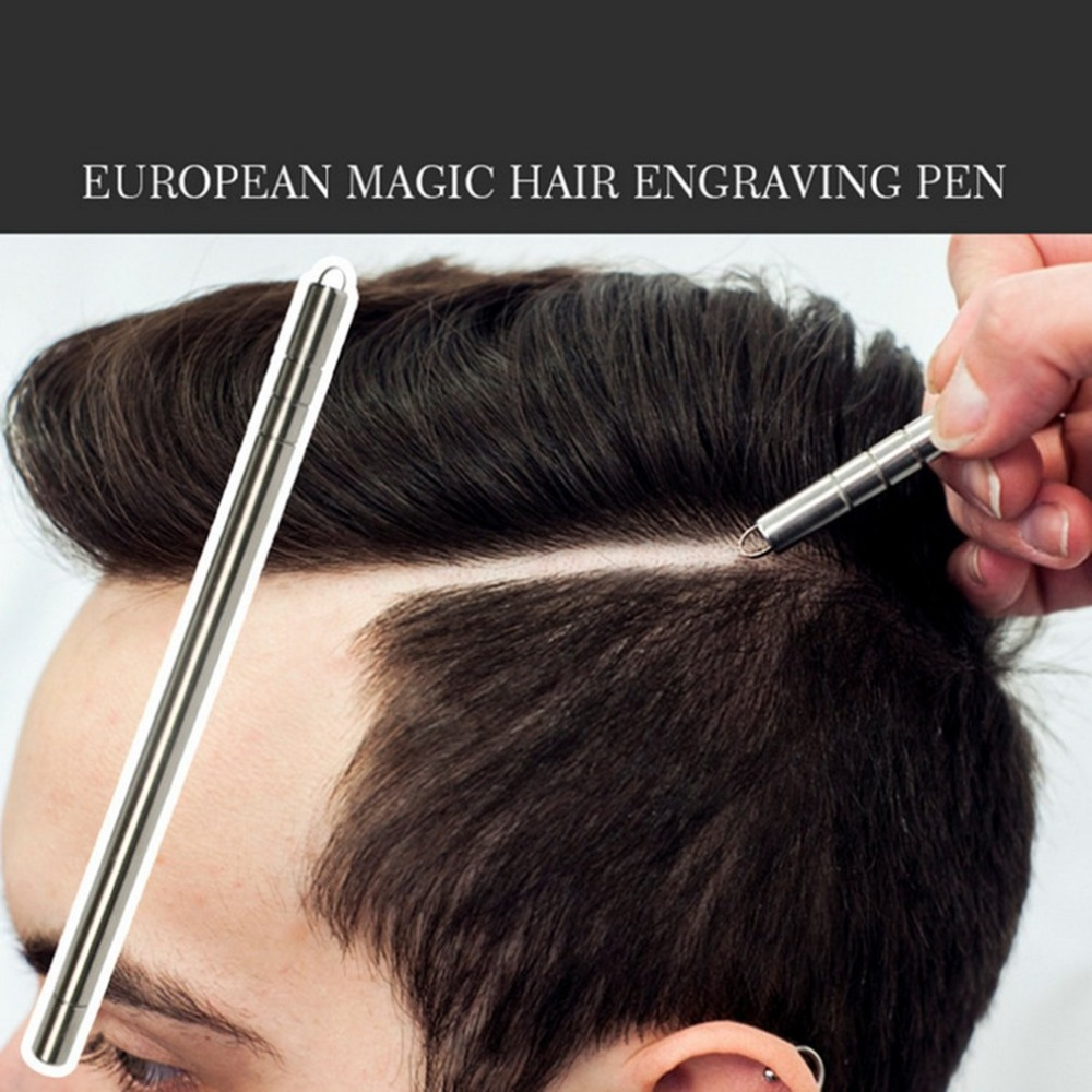 Multifunctional Hair Trimmers Professional Salon Engraved Pen Beard Razor Stainless Steel Pen Eyebrows Shavings Tool