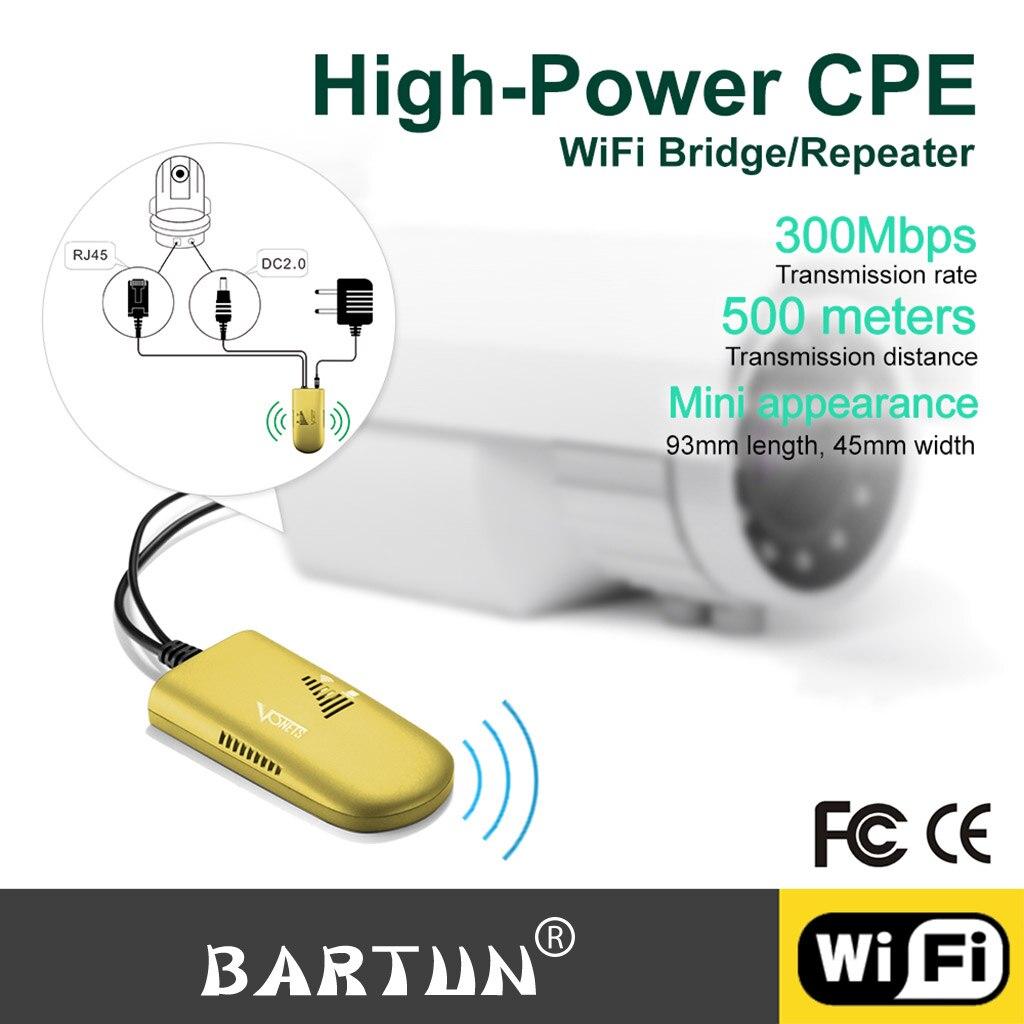 Nouveau répéteur Wifi extérieur/Wi-Fi amplificateur Point d'accès sans fil 300 Mbps CPE 2.4G accès Wi-Fi 20dbm pont haute puissance Client AP