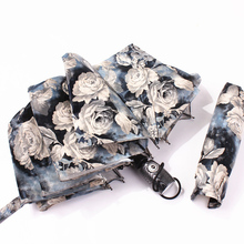 Automatic Folding Flower Umbrella Rain Women Three Customized Female Tools Unique Parasol