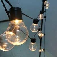 6m 20 led corda de casamento luz de fadas natal led globo festão lâmpada led fada string luz festa ao ar livre jardim guirlanda
