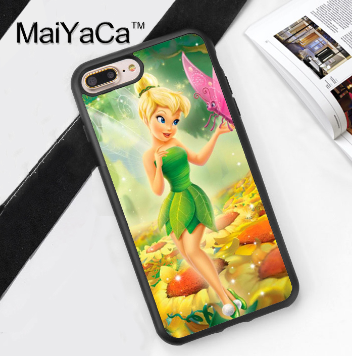 TINKERBELL FAIRY BUTTERFLY Printed Soft TPU Phone Cases For Apple iphone 6 Case For iphone 6S 6Plus 7 7Plus 5 5S 5C SE 4S Cover