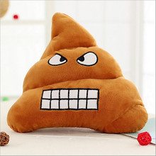 Interesting Funny Cute Smile Shits Bolster Pink Bow Emotion Stuffed Toy Plush Doll Christmas Gift Cushion Poop Emoji Pillow