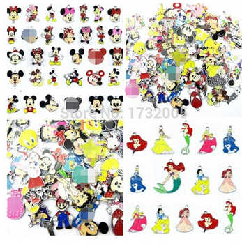 New 1000 Pcs  Mixed Cartoon Mickey Minnie Princess  Charm Pendants DIY Jewelry Making  Free Shipping  MB0646 - DISCOUNT ITEM  0% OFF All Category