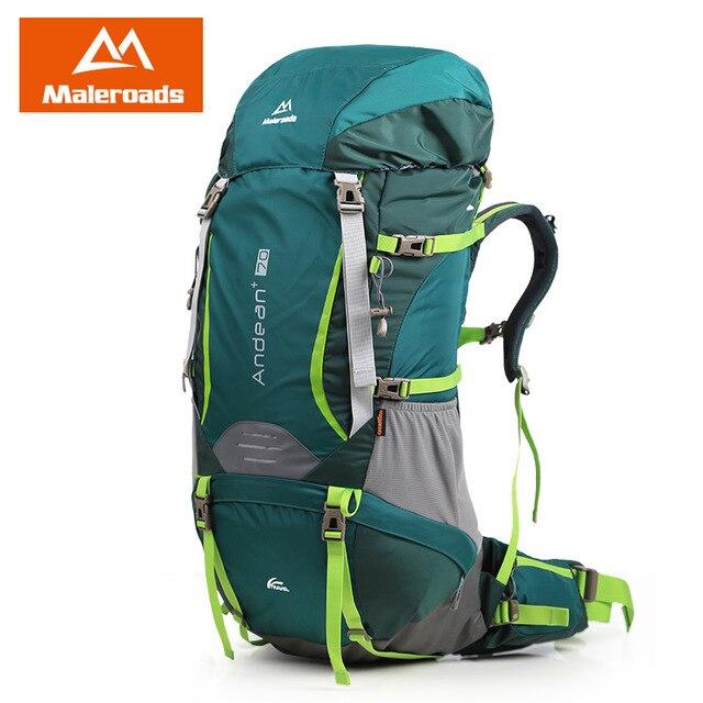 Large 70L Maleroads Professional Waterproof CR Travel Backpack Camp Hike Mochilas Climb Bagpack Laptop Bag Pack For Men Women виброплита бензиновая tsunami со 70l
