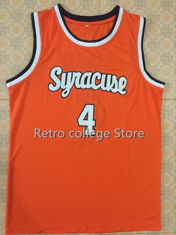 4 Rony Seikaly 1 Hakim Warrick Washington Syracuse Orange 1991 Basketball Jersey College white Retro throwback Custom any Number цены онлайн