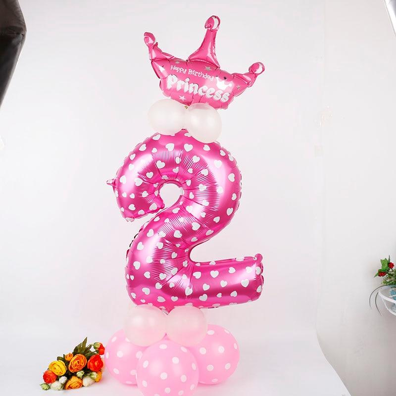 Balona të mëdha me fletë metalike me fletë rozë me madhësi 1PC - Furnizimet e partisë - Foto 4