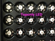 3w 620nm 630nm red led emitting diode bulb with star PCB diy led component lighting source for led plant grow&aquarium lamp