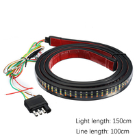 1Pcs 504LEDs Auto Universal Rear Brake Strip Light Flexible Waterproof Led Tape 60inch Car Decorate Roof