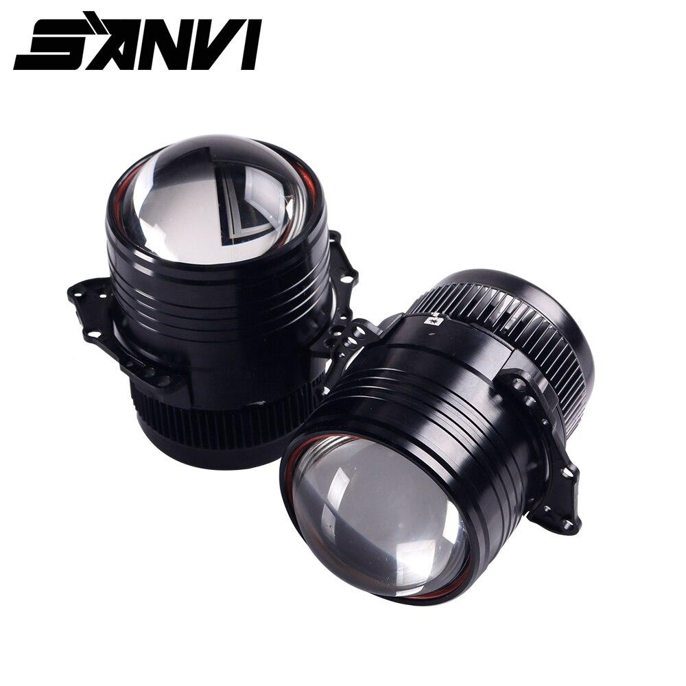 Sanvi 2 шт. Z1 3 дюйма би светодиодный объектив проектора фар 42 W 5000 K для дальнего ближнего света автомобиля усовершенствованный комплект освеще...