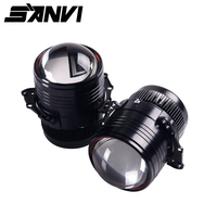 Sanvi 2pcs Z1 3inch Bi LED Projector Lens Headlight 42W 5000K Hi Low Beam Car Light Retrofit Kit For Car Styling