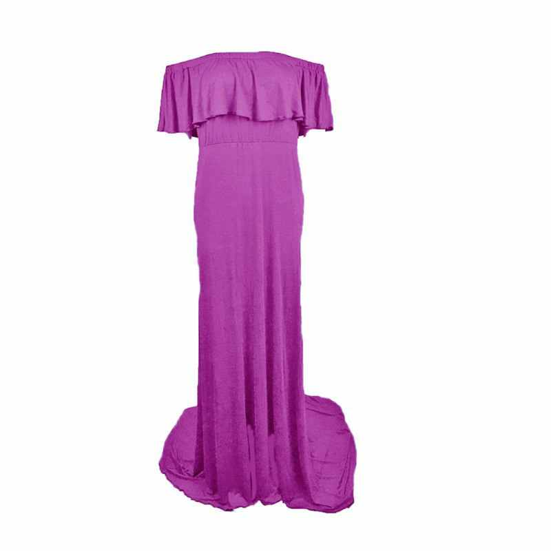 fc75da3de5280 VOGUEON Women Maternity Mermaid Dress Summer Sleeveless Ruffle Pregnant  Photography Props Lady Beach Long Maxi Ball Gown Clothes