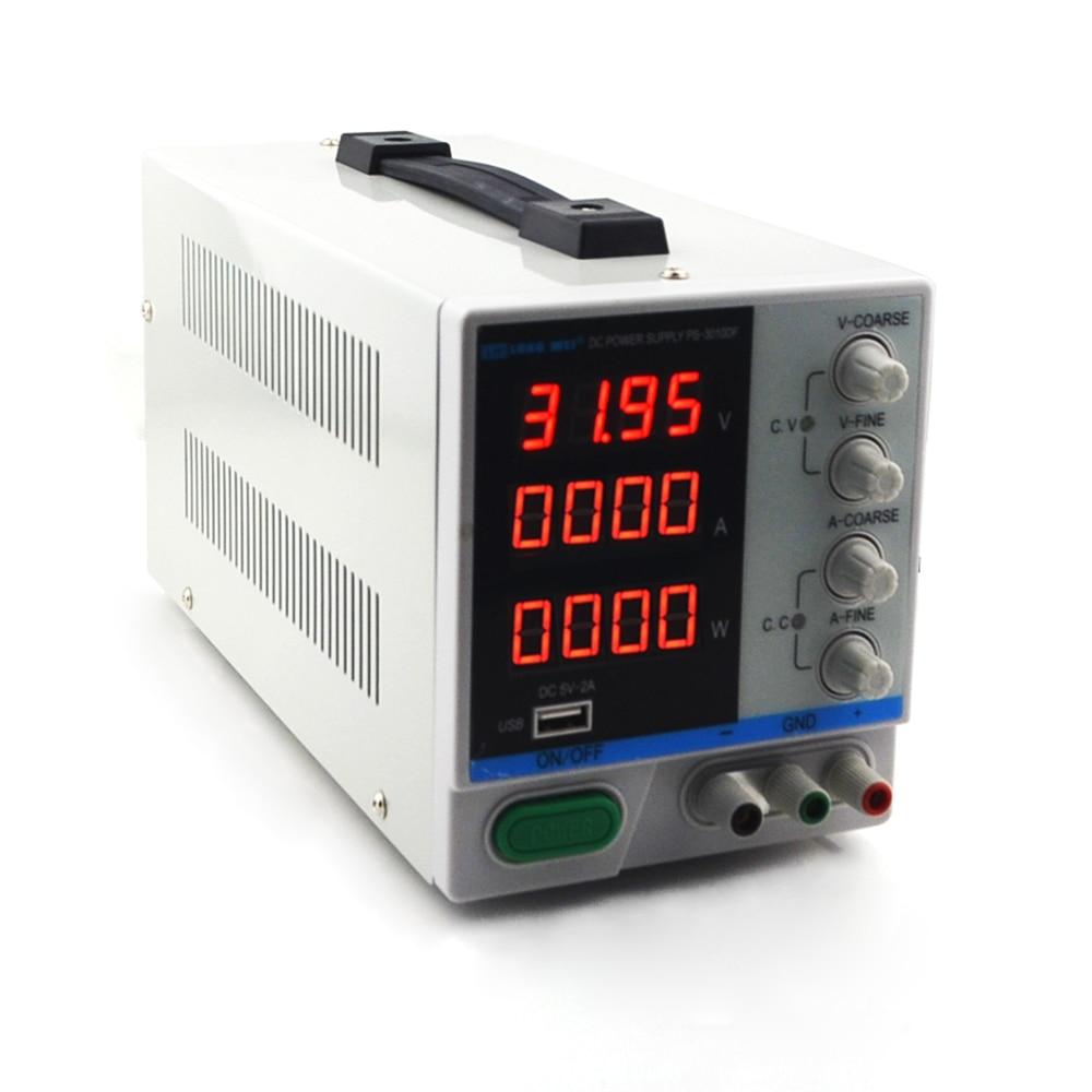 Nouveau PS-3010DF 4 chiffres affichage 30V 10A laboratoire DC alimentation réglable USB charge réparation commutation alimentation régulée - 3