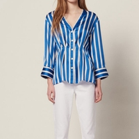 Women Striped Shirts Designer High Quality Runway Tops 2019