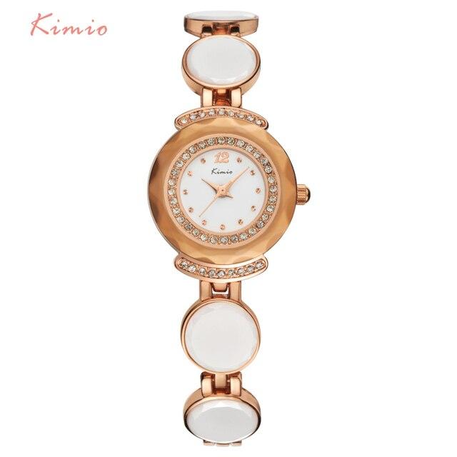 KIMIO ретро горный хрусталь действительно Керамика браслет ремешок женщина известный бренд Часы женское платье наручные часы Whatch Для женщин часы
