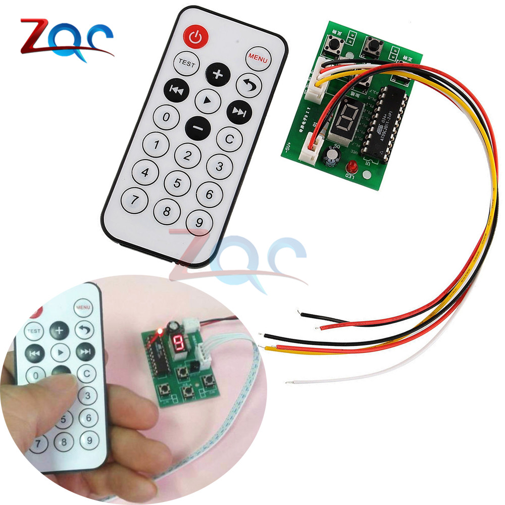 DC 4V-6V Stepper Motor Driver Controller Integrated Board 2-phase 4-wire Speed Adjustable with Remote Control 5pcs lot intersil isl8121irz isl8121qfn 3v to 20v two phase buck pwm controller with integrated 4a mosfet drivers