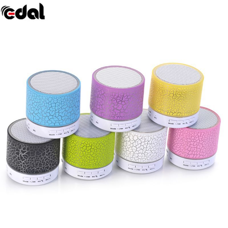 18Portable Wireless Mini LED Bluetooth Speakers Small Music Audio TF USB FM Light Stereo Sound Speaker For Phone Xiaomi With Mic
