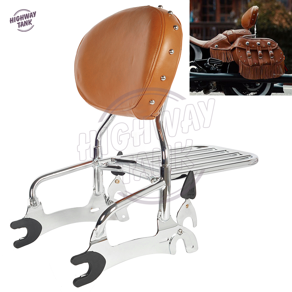 12 Motorcycle Backrest Sissy Bar With Luggage Rack case for Indian Chief Classic Vintage 2014-2017 partol black car roof rack cross bars roof luggage carrier cargo boxes bike rack 45kg 100lbs for honda pilot 2013 2014 2015