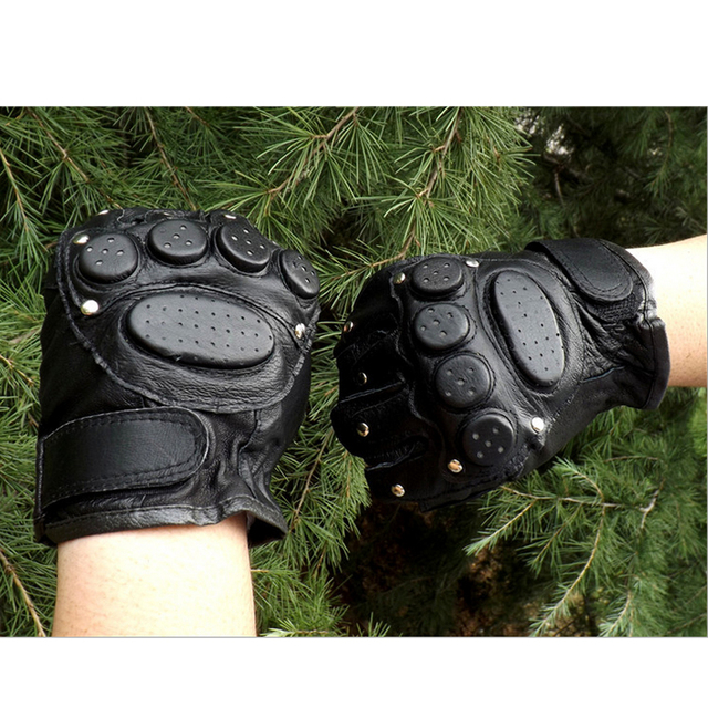 Tactical Genuine Leather Gloves