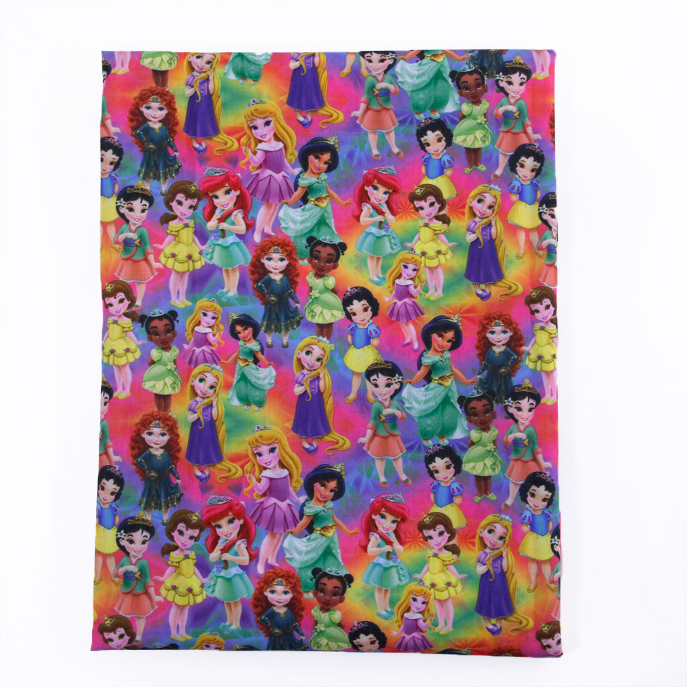 50*145 CM de Dibujos Animados niñas de algodón Poliéster tela para Niños Tejido