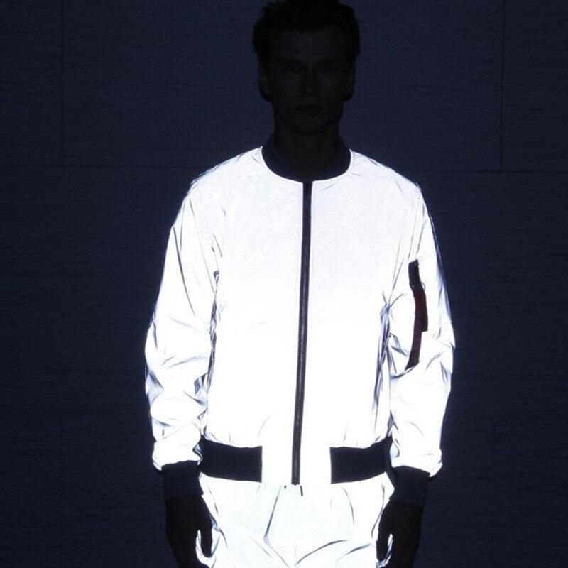 2019 New Funny Print Reflective Jacket Men/Women Brand Hooded Mens Hoodie Coats Casual Night Fluorescen Windbreaker Veste Homme