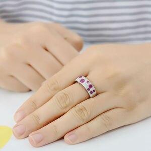 Image 5 - SANTUZZA ensemble de bijoux en argent Sterling 925 pour femmes, pierres rouges scintillantes, ensemble de boucles doreilles, bijoux fantaisie