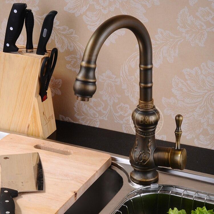 BECOLA high quality faucets antique bronze antique bathroom tap ...