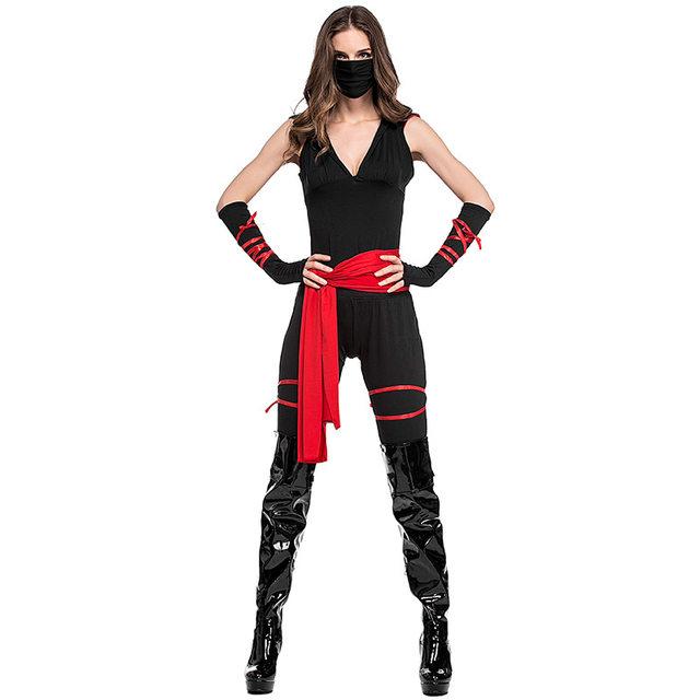 Black Family Member Man/Women/Boy Ninja Costume Masked Warriors Halloween Costumes Rogue Kids Stealth Ninja Child Uniforms S-XL  sc 1 st  Aliexpress & Online Shop Black Family Member Man/Women/Boy Ninja Costume Masked ...