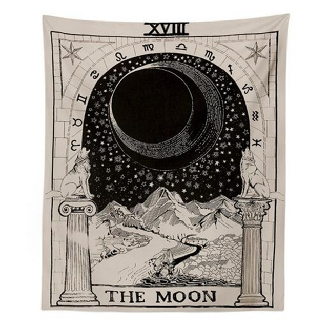 Tarot Hanging Tapestries Sun Star Moon Tapestry 2