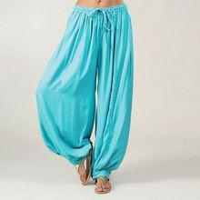 Шаровары для мужчин и женщин, хлопковые мешковатые штаны для мужчин и женщин, индийские брюки Аладдина, хлопковые шаровары