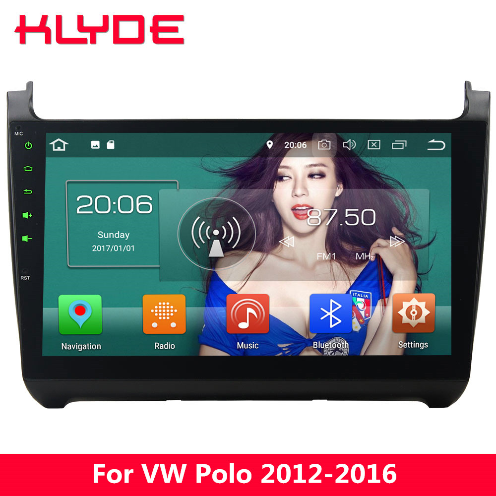 KLYDE 10.1 IPS 4G Android 8 Octa Core 4GB RAM+32GB BT Car DVD Multimedia Player For Volkswagen VW Polo 2012 2013 2014 2015 2016