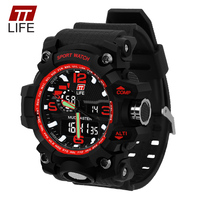 Fashion TTLIFE Brand Men Quartz Digital Wristwatches Men Sports Watches LED Military Waterproof Watch Relogio Masculino