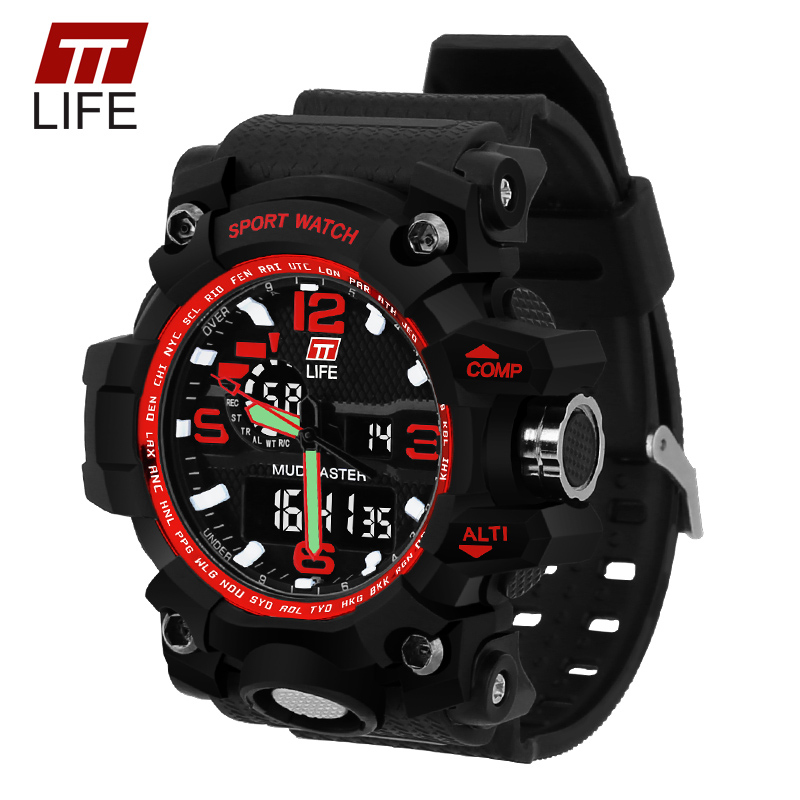 TTLIFE Brand Watch Men Sport Wristwatches Men Sports Watches LED Military 30m Waterproof Watch Men Relogio Masculino TS04