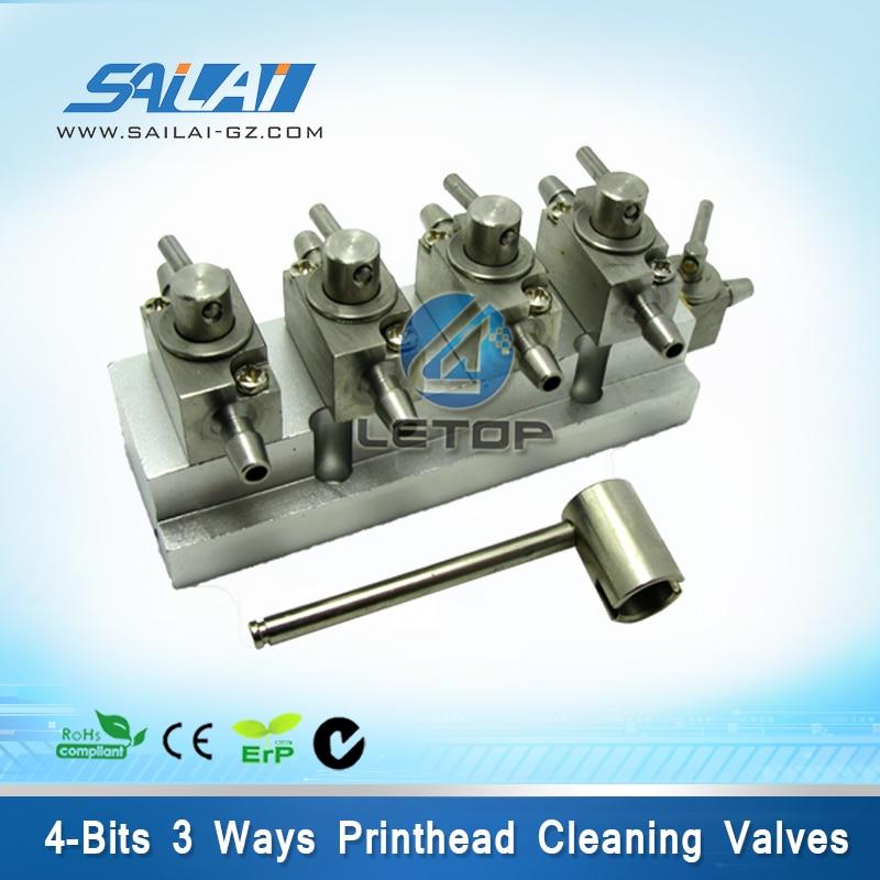 Infiniti Inkjet printer metal 4bits 3 way valves solvent valves