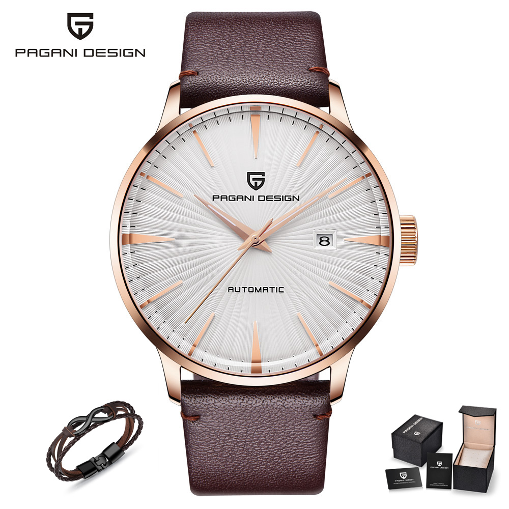 PAGANI DESIGN Fshion Sport Automatic Mechanical Watch Men Brand Luxury Leather Band Male Wrist Watches for Men relogio masculino