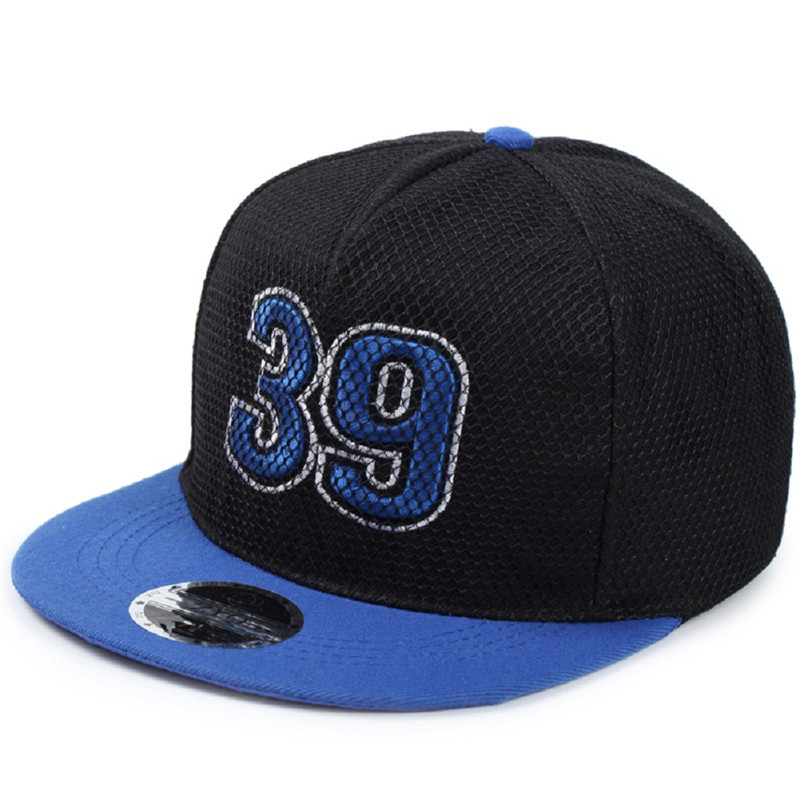 Korea Spring Summer Net Hip-hop Number Pattern Baseball Caps Personality Embroidery Shading Flat Brim Hat wholesale embroidery snapback baseball hat flat brim hip hop caps black skull head pattern