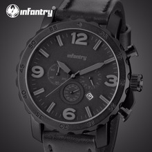 INFANTRY Mens Watches Top Brand Luxury Military Watch Men Chronograph Daytona Tactical Aviator Watches for Men Relogio Masculino