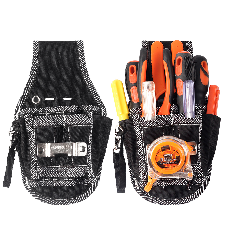 Multifunction Electrician Canvas <font><b>Tool</b></font> Bag Belt Utility Kit Pocket Pouch <font><b>Tool</b></font> Bag Durable Hardware <font><b>Mechanic</b></font> Canvas Bag image