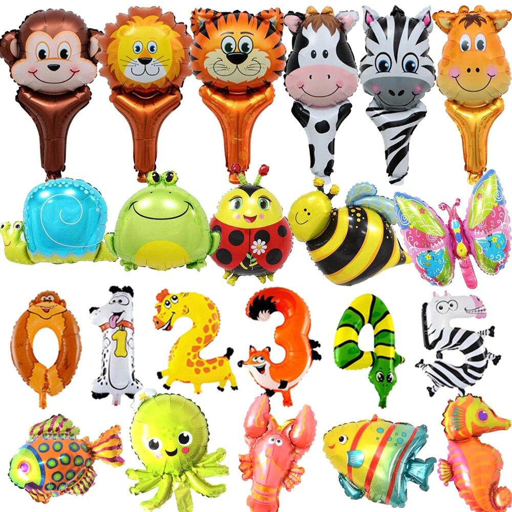 Animal Balloon Jungle Party Decor Safari Birthday 0 1 2 3 4 5 6 7 8 9 Ballons 1st Kid