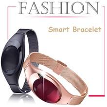 Роскошные Модные Смарт Браслет Экран проснуться Touchpad OLED ремень Фитнес pessometer монитор сердечного ритма Смарт