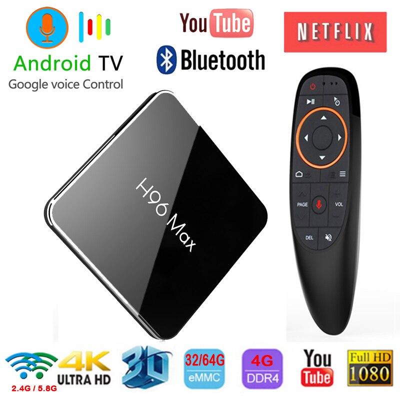 H96 max X2 Android 8.1 TV BOX Amlogic S905X2 4GB 32G 64GB Google Voice Control 2
