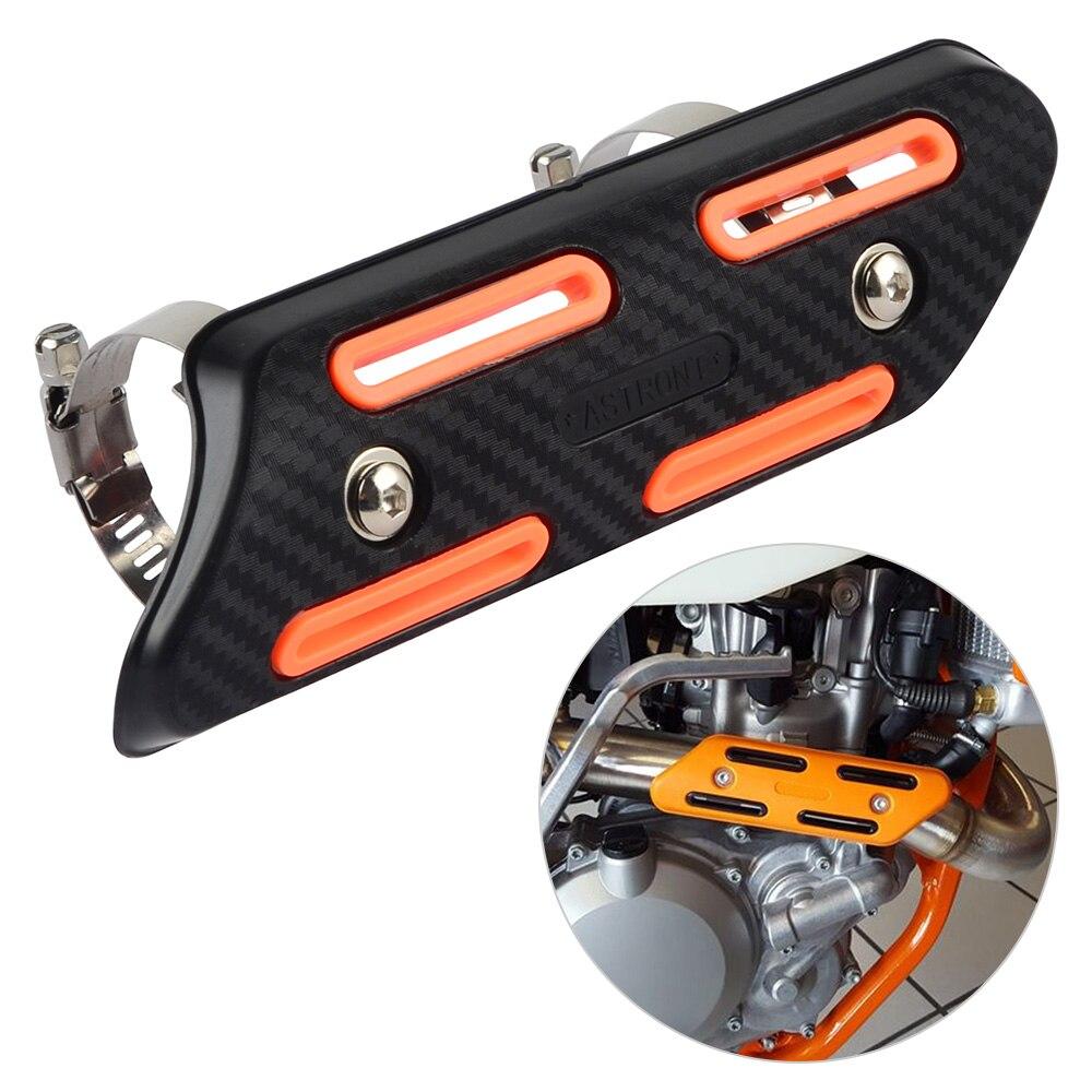 Bouclier thermique d'échappement protecteur Anti-brûlure garde pour KTM EXC SXF XC SX EXCF XCW 125 250 350 450 525 530 2019 2018 2017 2016