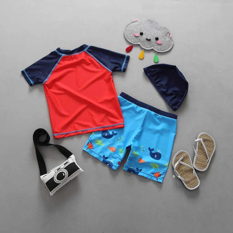 e0eddaa9ad130 ... Children Swimsuit Boys Swimwear Kids Beach Clothing Uv Protection Suit  Infantil Baby Bathing Suit 12 Months ...
