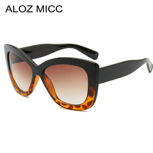 Aloz Micc Women Oversized Square Sunglasses Men 2019 Fashion Brand Designer Sun Glasses for Vintage Shades UV400 Q236