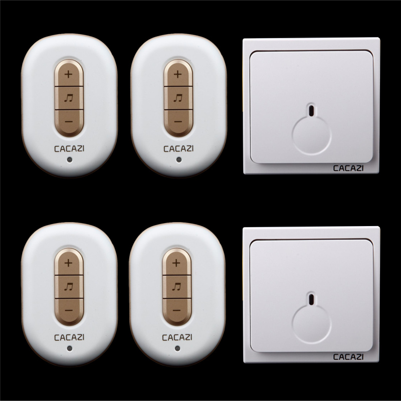 Free shipping! 2 transmitter + 4 Receiver New Wireless Doorbell With Remote Control Musical 48Tunes Digtal doorchime D9918 -2+4Free shipping! 2 transmitter + 4 Receiver New Wireless Doorbell With Remote Control Musical 48Tunes Digtal doorchime D9918 -2+4
