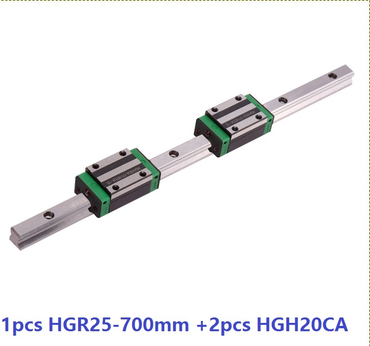 1pcs linear guide rail HGR25 700mm + 2pcs HGH25CA linear narrow blocks for CNC router parts Made in China akg6090 made in china high quality desktop mini cnc router 4060 for sale