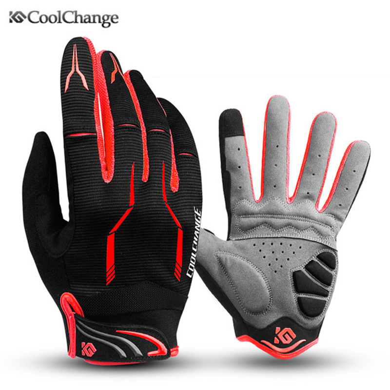 Coolchange Bike Glove <font><b>Full</b></font> Finger Black Luva Bike <font><b>Cycling</b></font> Gloves Man Women Long Mountain Biking Gloves Motorcycle Gloves