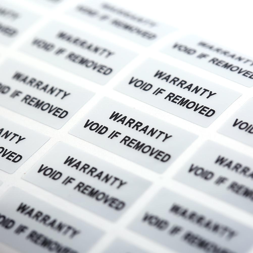 300 шт. печатные защитные уплотнения, гарантия на отказ, наклейки, уплотнения