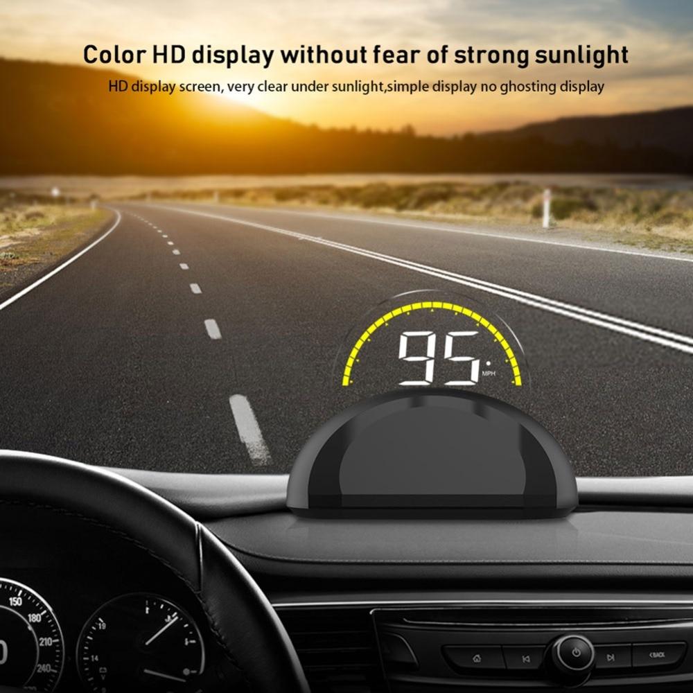 C700s double système OBD voiture HUD affichage tête haute OBD2 GPS compteur de vitesse ordinateur de bord tableau de bord miroir projection numérique
