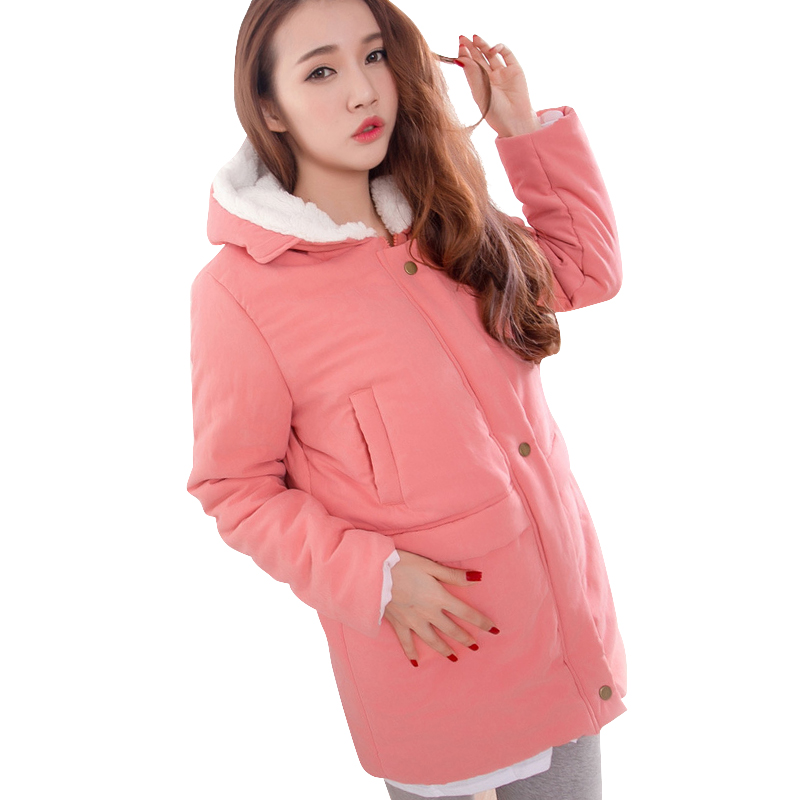 Maternity Winter Jackets Coats Clothes Pregnancy Hooded Thicken Coat Windbreaker Warm Outwear Clothing For Pregnant Women New цены онлайн